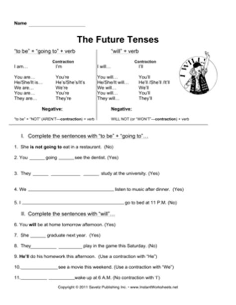 the pattern of simple future tense all worksheets 187 tenses worksheets pdf printable