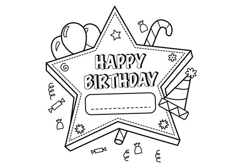 sports happy birthday coloring pages 25 happy birthday coloring pages coloringstar