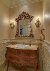 beautiful vanities a beautiful powder room with repurposed marble top bombe