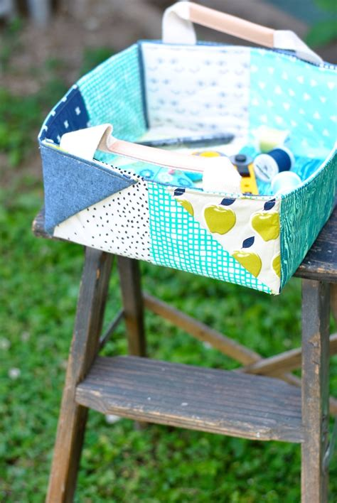 Patchwork Basket - sewing easy patchwork bags baskets craft buds