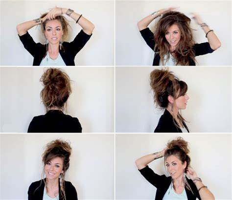 hairstyles buns messy step by step different ideas to do a messy bun with long hairs