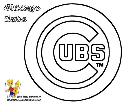 chicago cubs colors 03 chicago cubs baseball coloring at coloring pages book