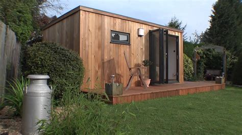 Backyard Shed Office Plans Home Office Garden Room Youtube