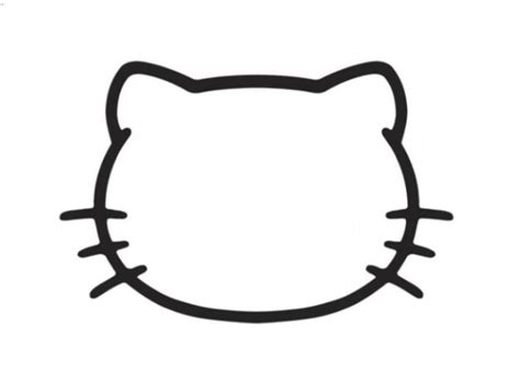 hello kitty bow coloring pages 8 best images of printable hello kitty face hello kitty