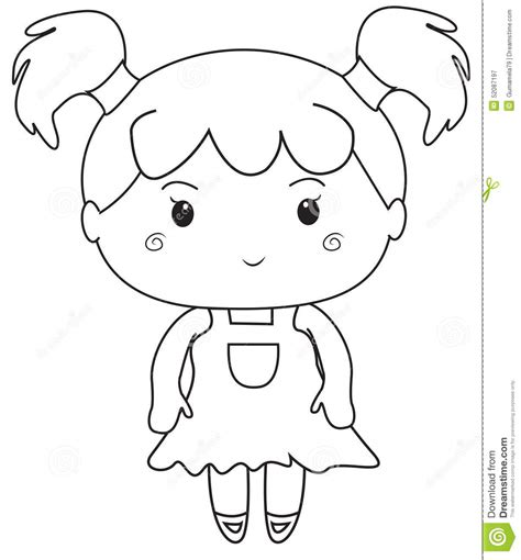 little girl coloring pages for kids sketch coloring page