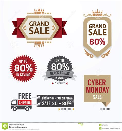 sale tags banners vector set design concept for mobile shopping stock vector image 47501296