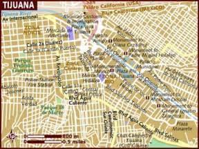 Tijuana Mexico Map by Map Of Tijuana