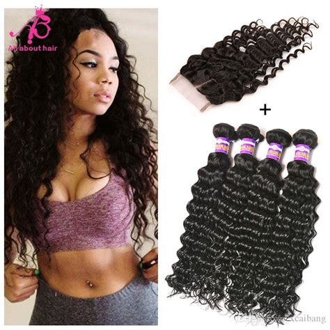 wet and wavy sew in hair care brazilian deep wave hair wet wavy hair 4bundles with
