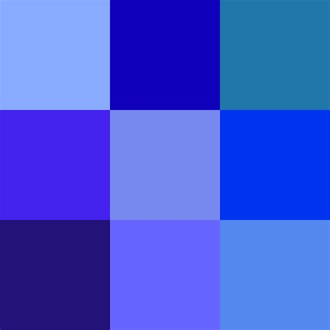 bluish purple color shades of blue