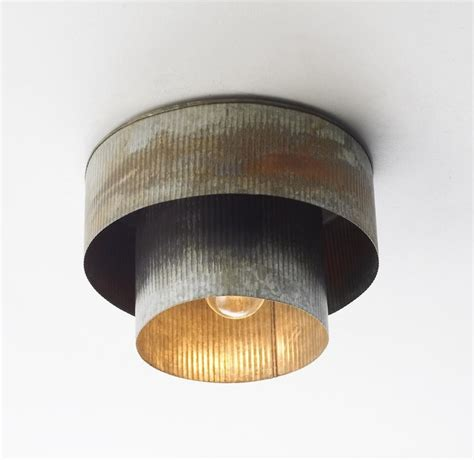 tin lighting fixtures corrugated tin drum ceiling light flush mount ceiling lighting by shades of light