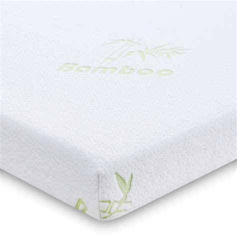 "3"" QUEEN Size Comfort Bamboo Cover Cool Gel Memory Foam Mattress Pad Bed Topper   eBay"