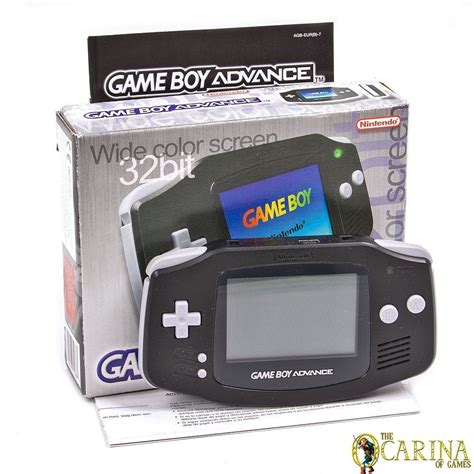 gba console nintendo boy advance black handheld system