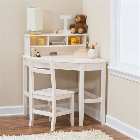 Child Corner Desk Classic Playtime Juvenile Corner Desk And Reversible Hutch With Chair Vanilla Desks At