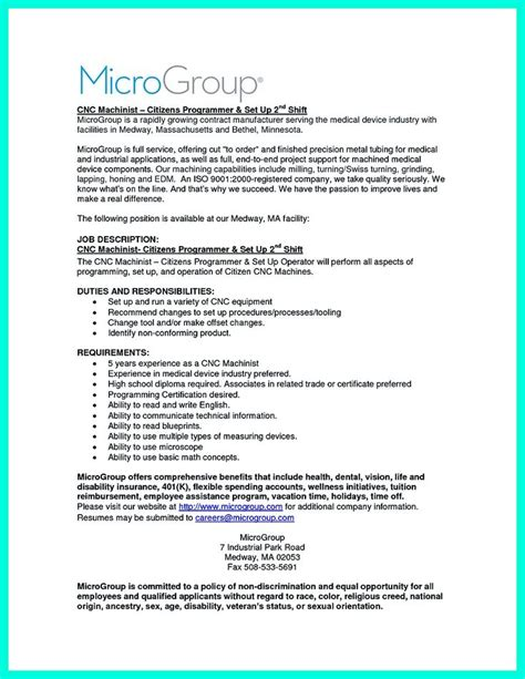 Cnc Machinist Resume by 1000 Ideas About Cnc Machinist On Cnc