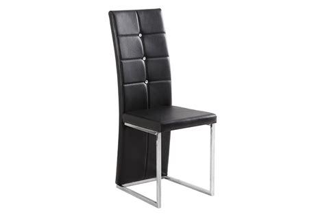 Supérieur Fauteuil Salle A Manger Design #6: chaises-design-mona-simili-cuir-et-acier-chrome.jpg