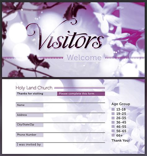 visitor card template best photos of church card templates church invitation