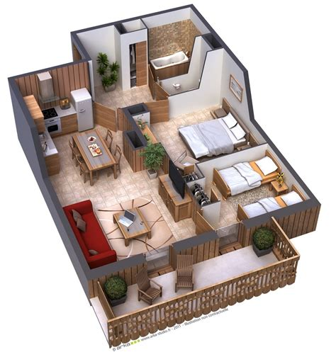 House Design Two Bedroom 25 Two Bedroom House Apartment Floor Plans