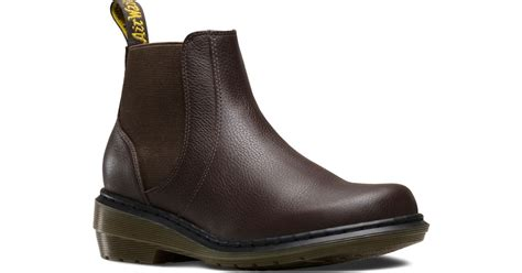 dr martens chelsea boot in brown lyst
