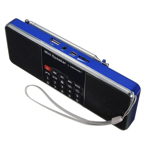 Speaker Portable Bluetooth Lcd Aodasen Jy 45 With Clock l 288 ambt bluetooth portable lcd fm am radio stereo speaker mp3 player micro sd usb