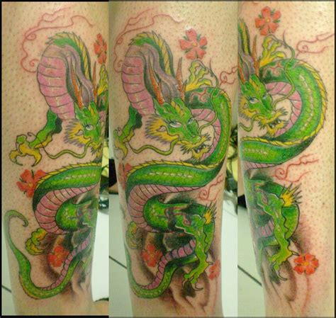 tattoo dragon green green dragon tattoo by chicotattoocanoas on deviantart