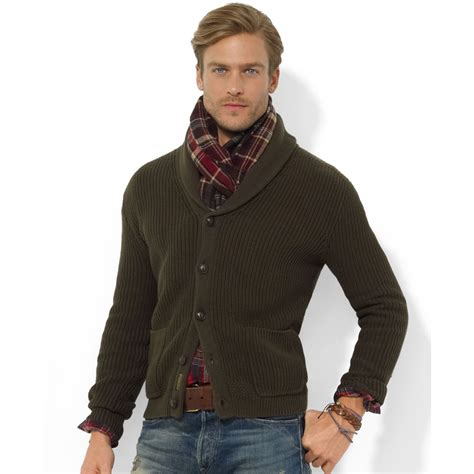 Tie Neck Collar Sweater ralph shawl collar sweater sweater jacket