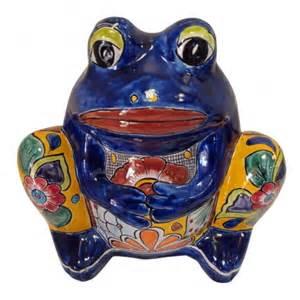 talavera frog planter tres amigos world imports
