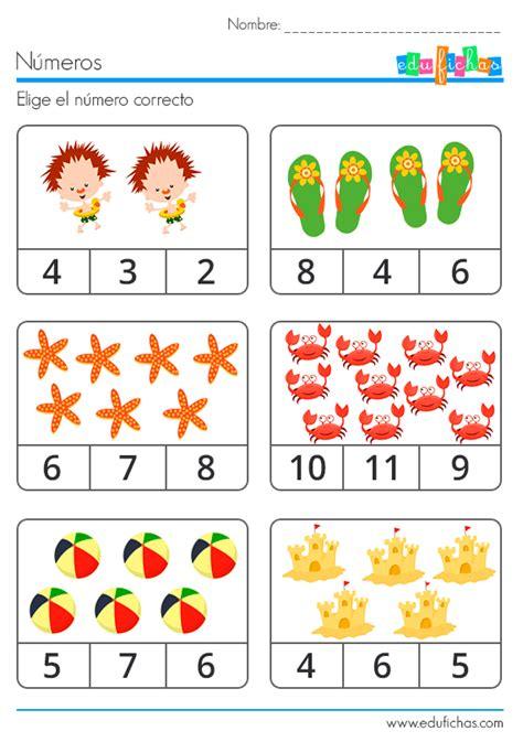 imagenes de actividades matematicas elije numero correcto fichas educativas pinterest