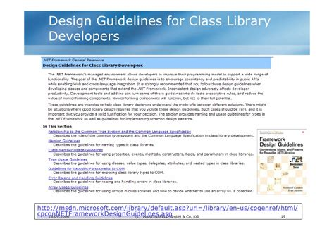 design guidelines msdn quot net und jetzt quot c in 21 tagen oder doch besser best