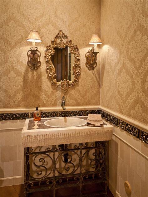 Bronze Kitchen Faucets Victorian Bathroom Photos Hgtv Neutral Powder Room With