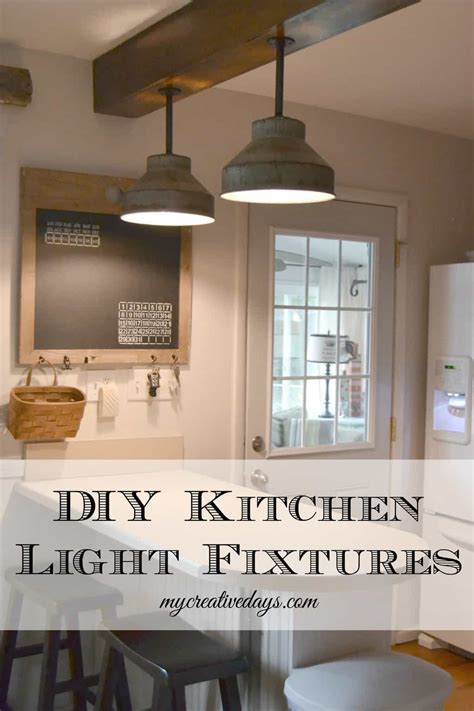 Diy Kitchen Light Fixtures Part 2 My Creative Days Lights Fixtures Kitchen