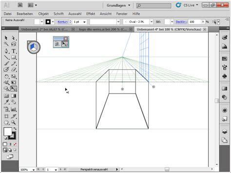 tutorial illustrator zeichnen illustrator perspektivenraster perspektivisch zeichnen