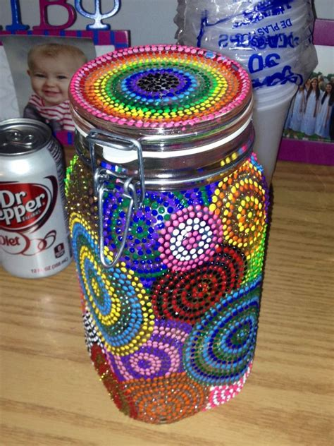 decorate a jar for paint to decorate jars cups etc me gusta