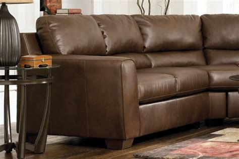 durablend leather sectional bark durablend leather sectional