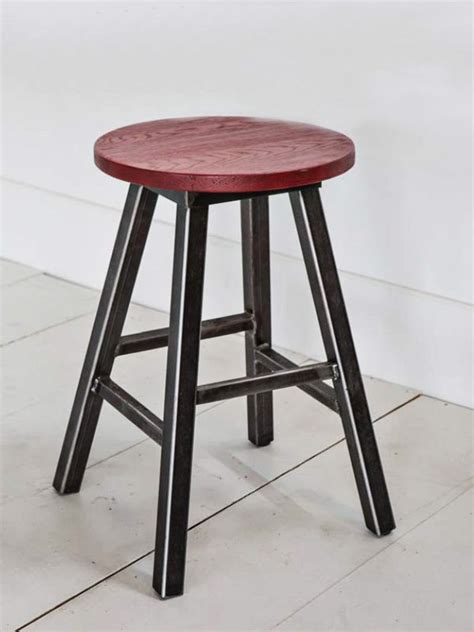 Studio Stool by Studio Metal Wooden Swivel Seat Stool Cottage Home 174