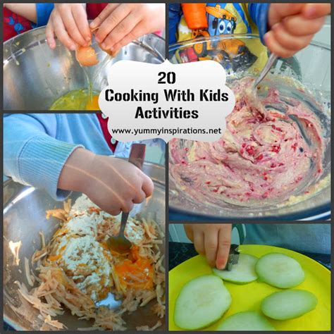 20 cooking with activities