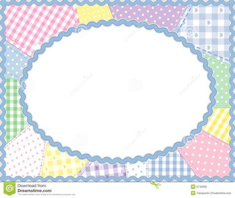 patchwork oval frame pastels stock vector image 5742082