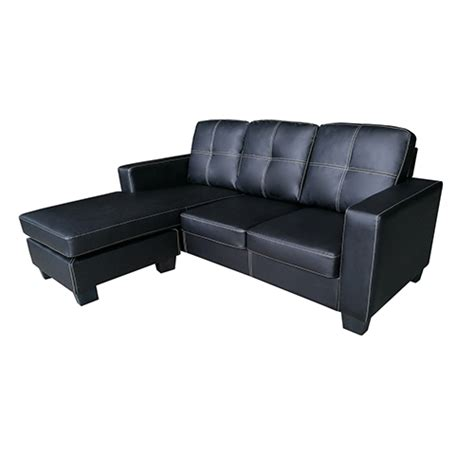 Black With Chaise modern nowra sofa black with chaise melbournians furniture