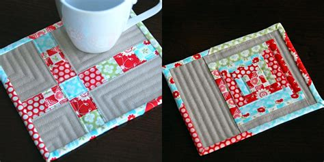 Patchwork Press - fabric obsession monday madness mug rugs