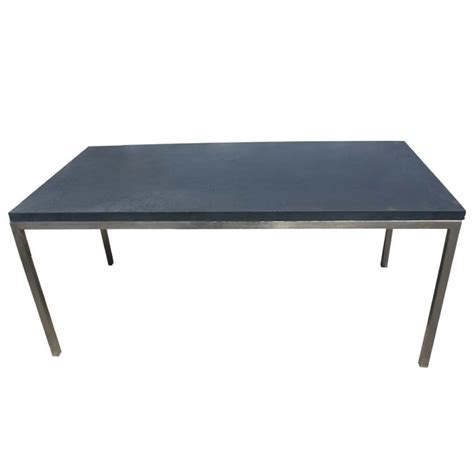 Slate Dining Table Industrial Steel And Slate Dining Work Table At 1stdibs