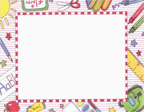Printable School Borders