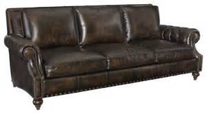 bernhardt leather sofas bernhardt nelson leather sofa traditional sofas by