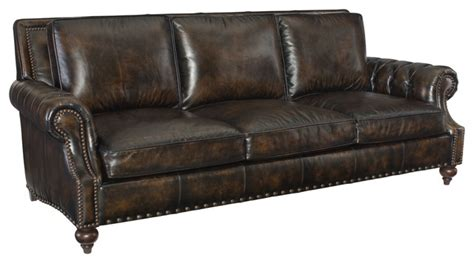 bernhardt nelson leather sofa traditional sofas by