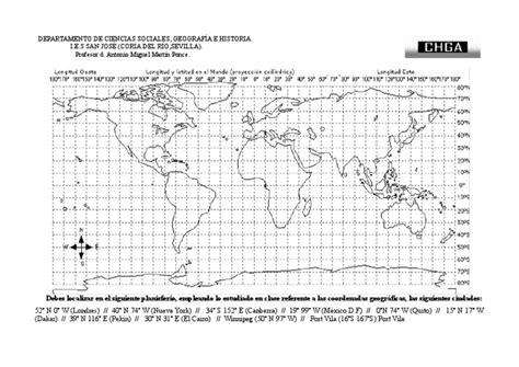 imagenes satelitales con coordenadas ejercicio de coordenadas geogr 225 ficas i