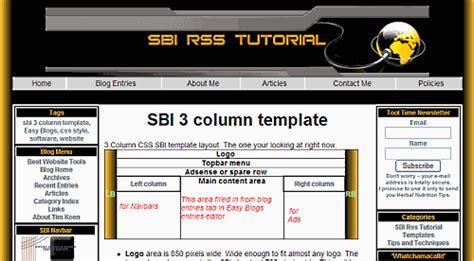 June 2009 3 Column Website Template