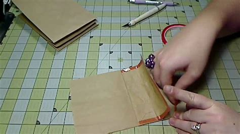 How To Make A Paper Bag Scrapbook - scrapbook mini album paper bag album assembly