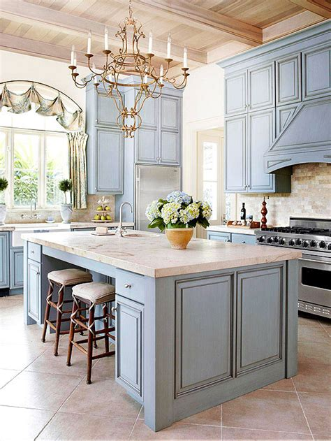 country blue kitchen cabinets country kitchen limestone marble beamed ceiling