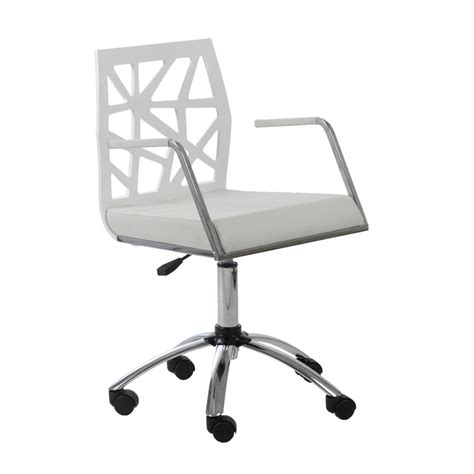 White Modern Desk Chair Office Chair Modern Richfielduniversity With Regard To Residence Desk White Remodel