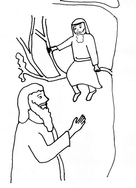 coloring pages story zacchaeus free coloring pages of zacchaeus in a tree