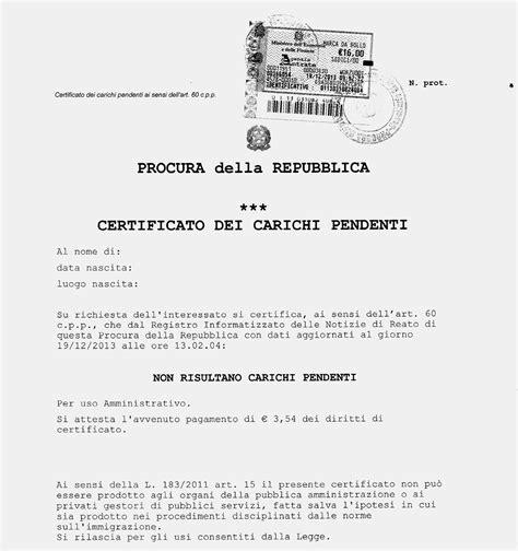 ufficio casellario giudiziale richiesta fedina penale certificato penale stefano