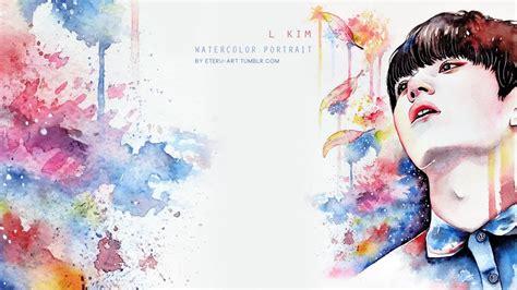 watercolor edit tutorial tumblr feather infinite l 인피니트 엘 myungsoo 명수 watercolor
